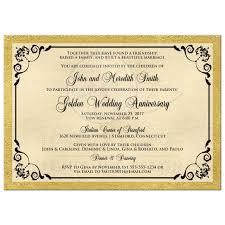 double photo template golden wedding anniversary invitation faux