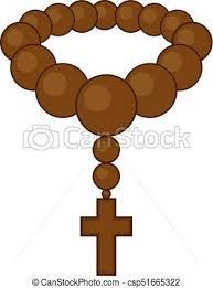 christian rosary creative design of christian rosary draw vector illustration