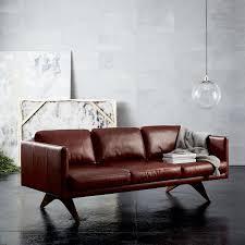 Midcentury Leather Sofa West Elm York Sofa Sofa Hpricot Com