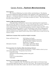 Sample Fashion Resume by Goals Essay Examples