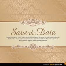 save the date template damask save the date vector template freevectors net