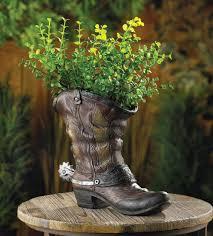 amazon com 10015324 wholesale spurred cowboy boot planter garden