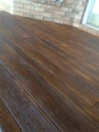 wood sted concrete decorative concrete simulated wood deck in