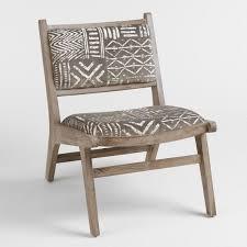 ivory chair brown and ivory safari jacquard gunnar chair world market