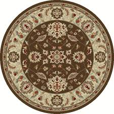 Brown Round Rugs by Tayse Rugs Deco Brown 7 Ft 10 In Contemporary Round Area Rug