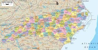 Map Nc North Carolina Map