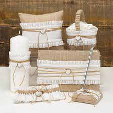 burlap wedding rustic burlap wedding accessories set