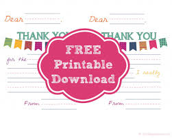 kids thank you cards free printable thank you notes for kids happy home