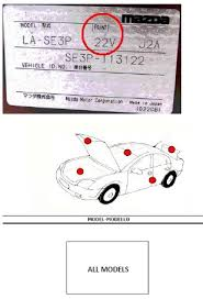mazda paint codes car paint colour code location