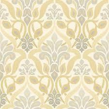 fusion yellow ombre damask wallpaper contemporary wallpaper