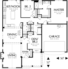 2 story floor plans with garage single story cottage plan with two car garage 69117am
