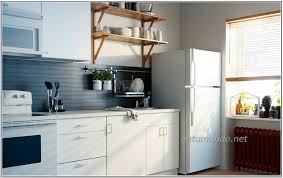 creative kitchen design idea with white kitchen cabinet with storm