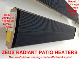 Electric Patio Heaters Zeus Radiant Patio Heaters Efficient Electric Outdoor Heating