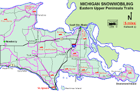 up michigan map michigan snowmobiling eastern peninsula snowmobile trail
