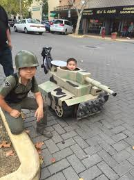 plastic army man halloween costume tiger tank cardboard baby kids with strollers and anything with