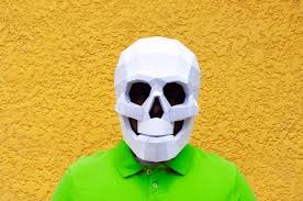 digital halloween mask diy skull mask skull mask halloween masks papercraft