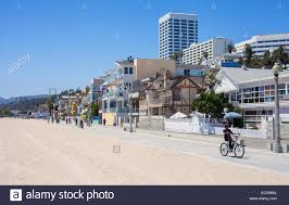 palm trees and houses along the beach in venice beach los