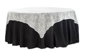 cheap lace overlays tables 72 square quaker lace table overlay topper ivory cv linens