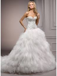 wedding dresses cheap gown sweetheart chapel ivory tulle luxury wedding dresses