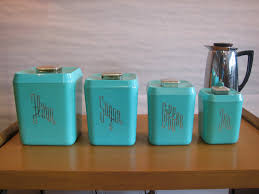 teal kitchen canisters mid century modern vintage 1950s 60s plastic kitchen canisters