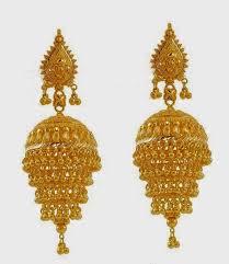 Designer Chandelier Earrings Gold Jhumka Earring Designs Jpg 1377 1583 Sujatha Pinterest