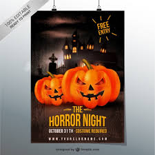Horror Night Flyer Template Vector Free Download