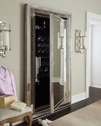 glam floor mirror w hidden storage the ultimate jewelry armoire