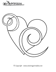 heart swirls coloring free girls coloring printable