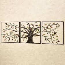 wall arts ever changing brown tree metal wall art set tree of
