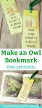 make an owl bookmark free printable