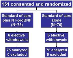 use of amino terminal pro u2013b type natriuretic peptide to guide
