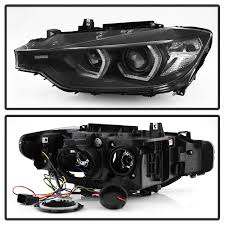 bmw headlights 3 series xenon 12 15 bmw 3 series f30 halo led drl projector headlights