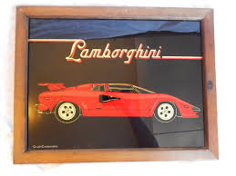 vintage lamborghini vintage lamborghini car framed glitter glass art graphicreations