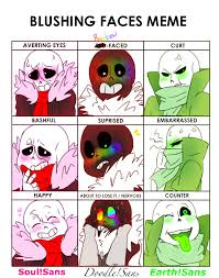 Blushing Meme - sans aus blushing meme by brasswarrior on deviantart