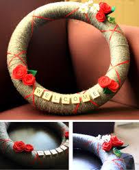 homemade christmas gifts yarn wreath scrabble yarn wreaths and