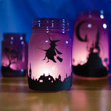 enchanting halloween lanterns town silhouette adventure in a box