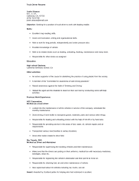 Examples Of Resumes For Truck Drivers by Truck Driver Resume Examples Doc Truck Driver Resume Resume
