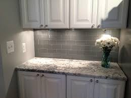 White Kitchen Cabinets With Grey Countertops by White Kitchen Cabinets Grey Subway Tiles Ellajanegoeppinger Com