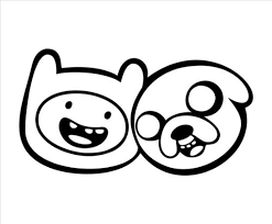 download printable finn jake adventure coloring pages