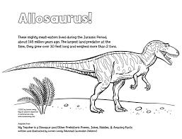 allosaurus coloring page chuckbutt com
