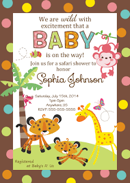 Cheap Baby Shower Invitation Cards Fisher Price Baby Shower Custom Invitations 8 99 Pink Monkey