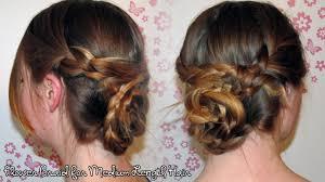 tutorial hairstyles for medium length hair easy flower braid for medium length hair self tutorial youtube