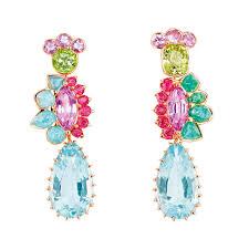 aquamarine earrings granville aquamarine earrings with multi coloured gemstones