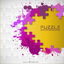 vector paint splash puzzle background vector free vector