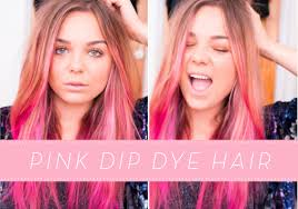 pink dip dye ombre hair lily melrose youtube