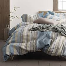 Linen Bedding Sets Mitchell Stripe Linen Sheets Bedding Set The Company Store