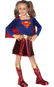 childs kids supergirl costume superhero theme party fancy dress