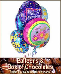 balloons and chocolate delivery balloons chocolate bouquet gift same day gift delivery balloon