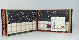 halloween paper products mini album