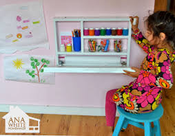 child desk plans free ana white build a flip down wall art desk free and easy diy